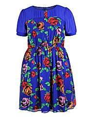 Koko Blue Floral Print Dress