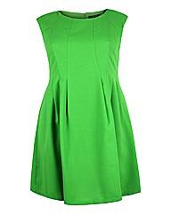 Koko Green Sleeveless Skater Dress