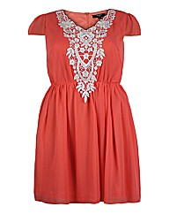 Koko Lace Trim Skater Dress - L37