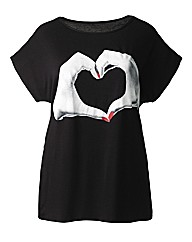 AX Paris Hand Heart T Shirt