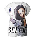 AX Paris Selfie Boyfriend T Shirt