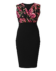AX Paris 2 N 1 Rose Print Midi Dress