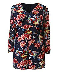 AX Paris Navy Floral Playsuit