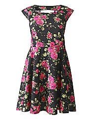 AX Paris Floral Skater Cut Out Dress