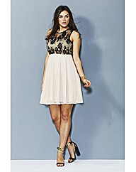 AX Paris Lace Overlay Skater Dress