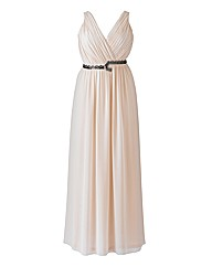 Laced In Love Nude Maxi Dress
