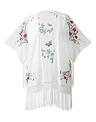 Alice And You Embroided White Kimono