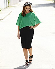 Green And Black 2 N 1 Dress