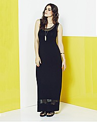 Simply Be Mesh Jersey Maxi Dress
