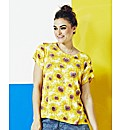 Simply Be Sunflower Boyfriend Tee