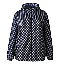AX Paris Navy Polka Dot Pac A Mac