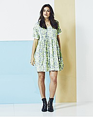 Simply Be Neon Print Swing Dress