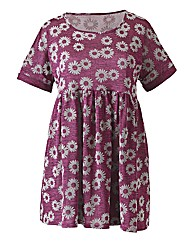 Pink Daisy Flock Smock Dress