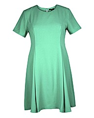 Koko Fit And Flare Green Dress