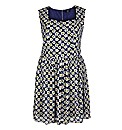 Koko Blue Print Sleeveless Dress