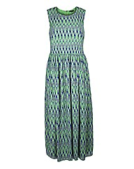 Koko Green Print Maxi Dress