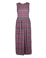 Koko Pink Print Maxi Dress