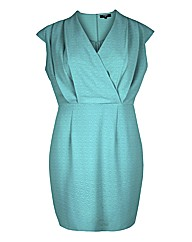 Koko Turquoise Wrap Over Shift Dress
