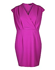 Koko Pink Wrap Over Shift Dress