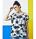 Simply Be Palm Print Shell Top
