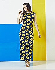 AX Paris Sunflower Jersey Maxi Dress