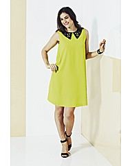AX Paris Neon Swing Dress With Collar
