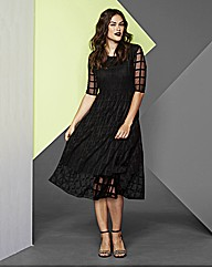Simply Be Grid Midi Dress