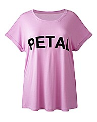 Simply Be Petal Slogan Tee