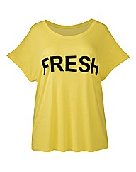 Simply Be Fresh Slogan Tee