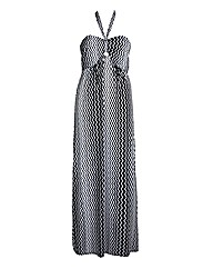 Koko Monochrome Zig Zag Maxi Dress