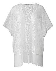 AX Paris White Lace Kimono