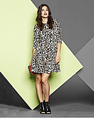 Simply Be Animal Print Skater Dress