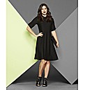 Simply Be Collar Skater Dress