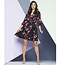 Simply Be Blurred Floral Smock Dress