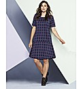 Simply Be Check Drop Waist Dress