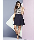 AX Paris Navy Lace Skater Dress