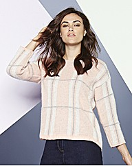 Simply Be Crop Knit Check Jumper
