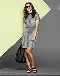 Simply Be Stripe Collar Dress