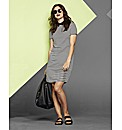 Simply Be Stripe Collar Dress