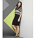 Simply Be Snake Stripe 2 N 1 Dress