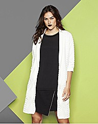 Simply Be Croc Textured White Blazer