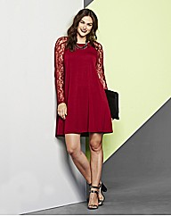 AX Paris Lace Berry Swing Dress