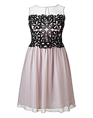 Little Mistress Strapless Skater Dress