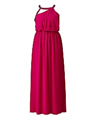 Little Mistress Cherry Pink Maxi Dress