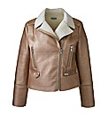 Alice And You Rose Gold Biker Jacket