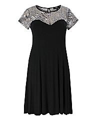 Koko Black And White Swing Dress
