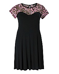 Koko Pink Leopard Swing Dress