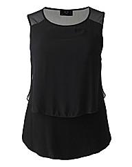 AX Paris Black Jersey Chiffon Vest