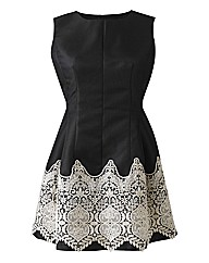 AX Paris Crochet Black Prom Dress