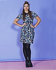 SIMPLY BE BUTTERFLY PRINT DRESS